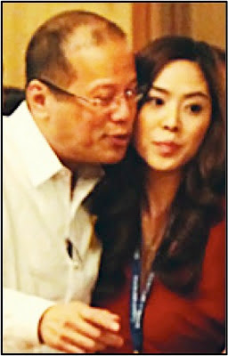PNoy and Grace Lee kiss