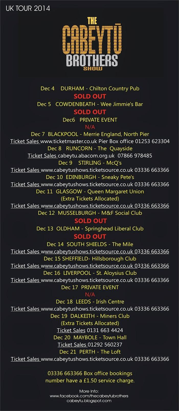 Tour UK 2014 - December