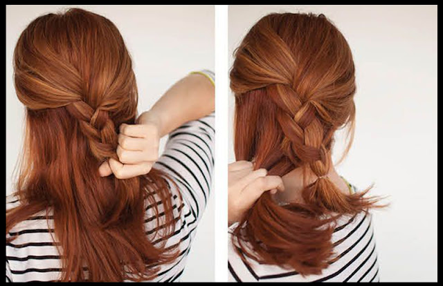 Easy Braided Updo Hairstyle Tutorial