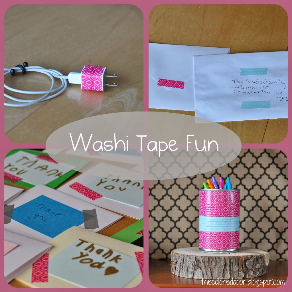 washi tape - the colored door