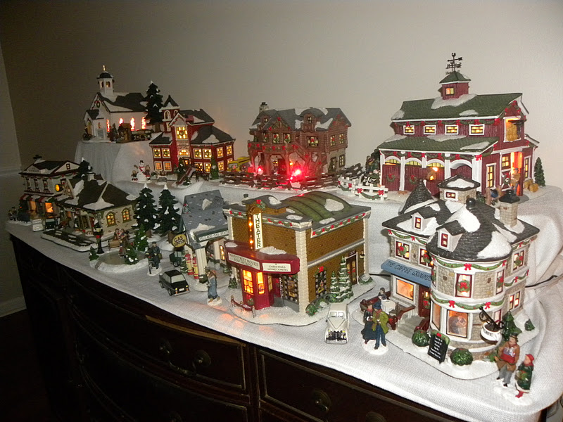 Log Cabin Christmas Village