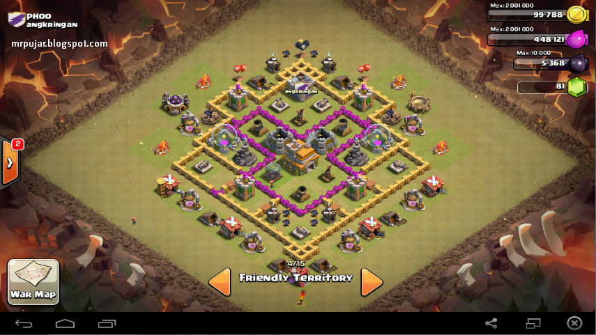 Desain war base coc TH level 7