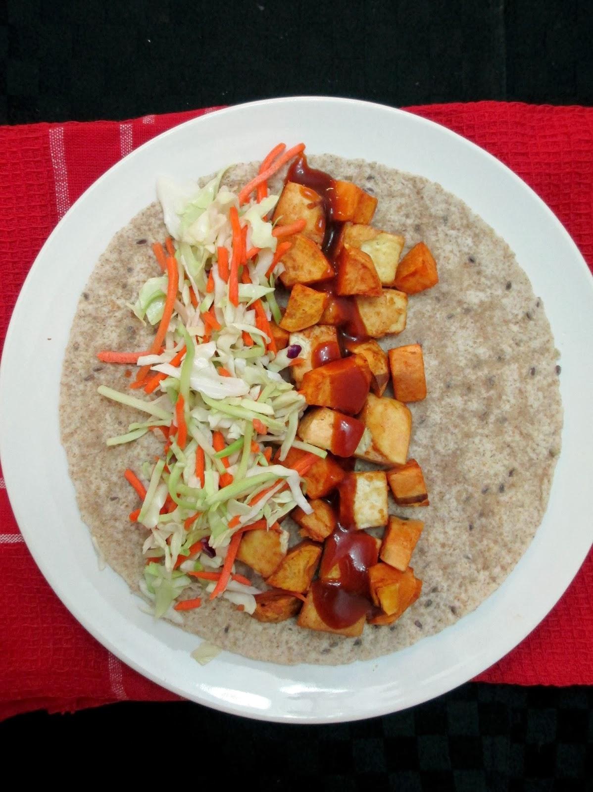 Vanilla & Spice: Easy BBQ Tofu & Sweet Potato Wraps