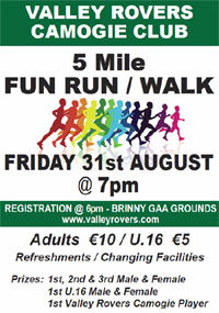 5 mile race nr Innishannon... Fri 31st Aug 2018