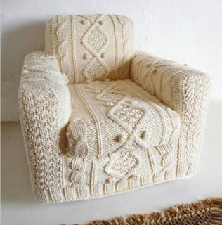 knitted chair slip cover