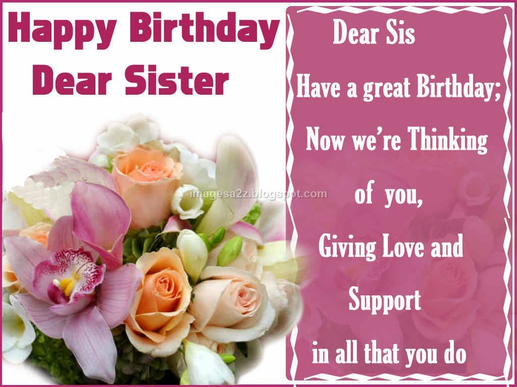 Birthday Wishes For Sister Images Happy