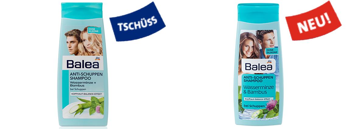 Balea Anti Schuppen Shampoo, neues Design
