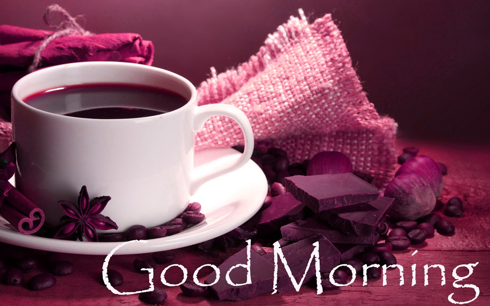 Coffee With Chocolate Good Morning HD Wallpaper