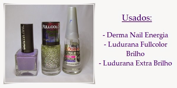 Esmalte Derma Nail Energia e glitter Ludurana Brilho