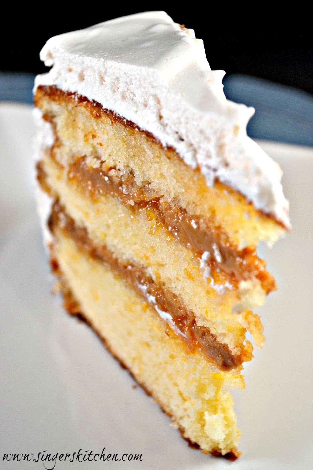 Dulce De Leche Coconut Layer Cake