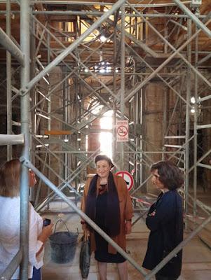 Επίσκεψη της αν. υπουργού Πολιτισμού, Μαρίνας Λαμπράκη - Πλάκα, στη Μονή Δαφνίου