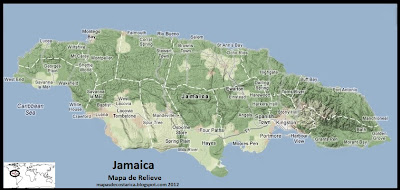 Mapa de Relieve de Jamaica