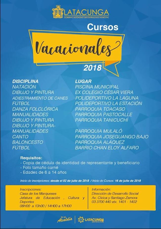 Cursos Vacacionales 2018
