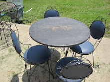 Vintage Ice Cream Table &amp; 4 Chairs