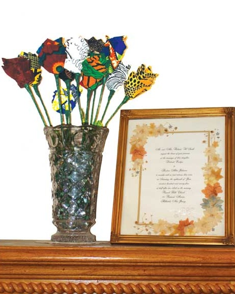 African Print roses - iloveankara.blogspot.com