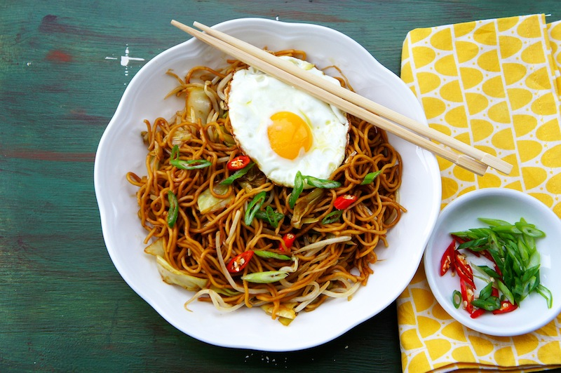 Stir fried pasta with vegetable recipes