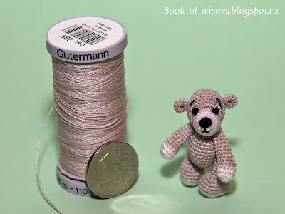 knitted mini-teddy