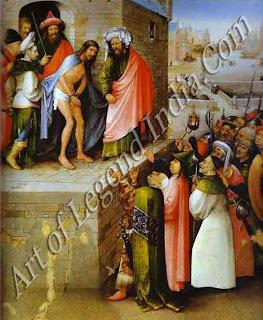 """The Great Artist Hieronymus Bosch Painting Gallery """"Ecce Homo"""" c.1470-80 29½"""" x 24"""" Stadelsches Kunstinstitut, Frankfurt"""