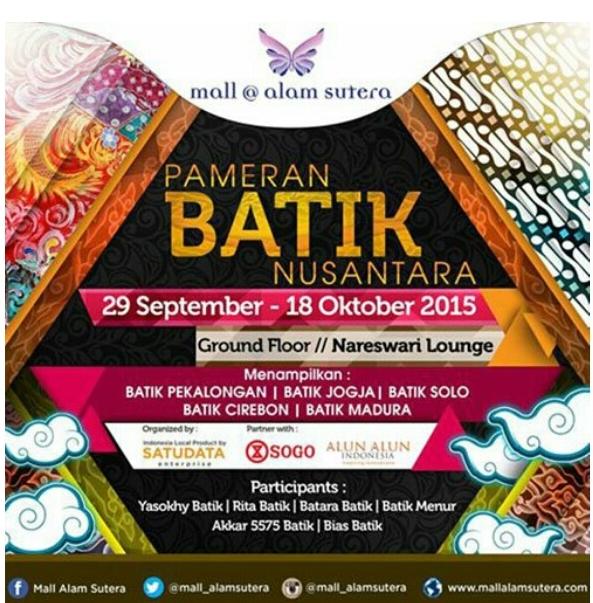Pameran Batik Nusantara Mulai 29 September -18 Oktober 2015
