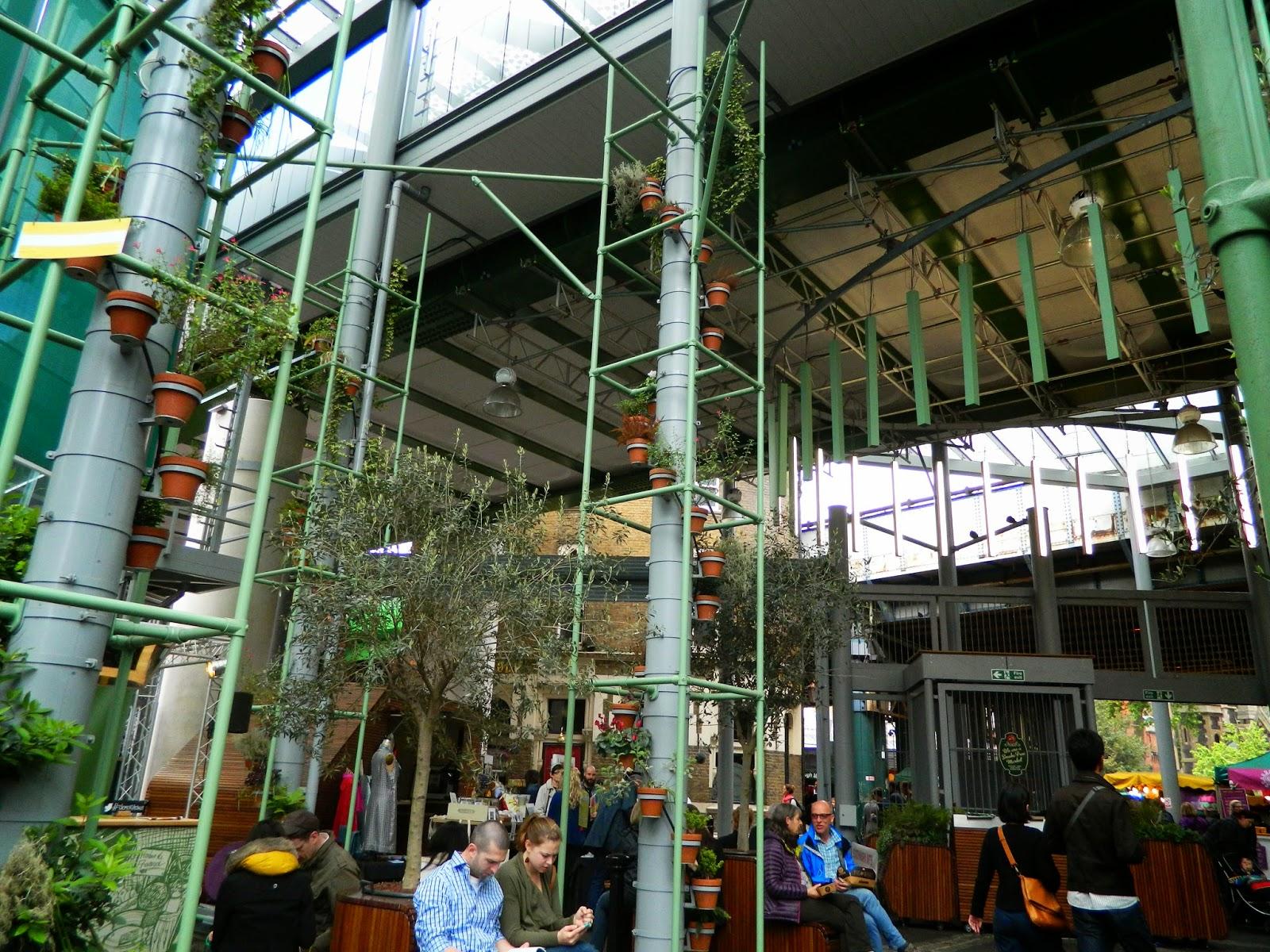 borough market inside green plants