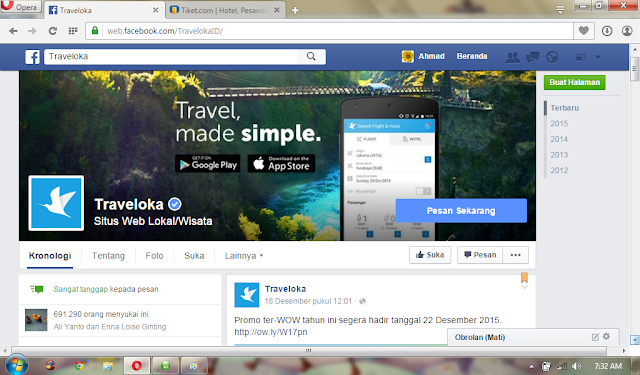 fb traveloka vs tiket.com