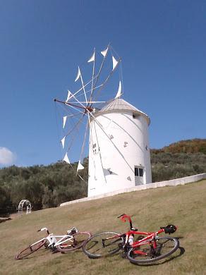 小豆島オリーブ公園・ギリシャ風車
