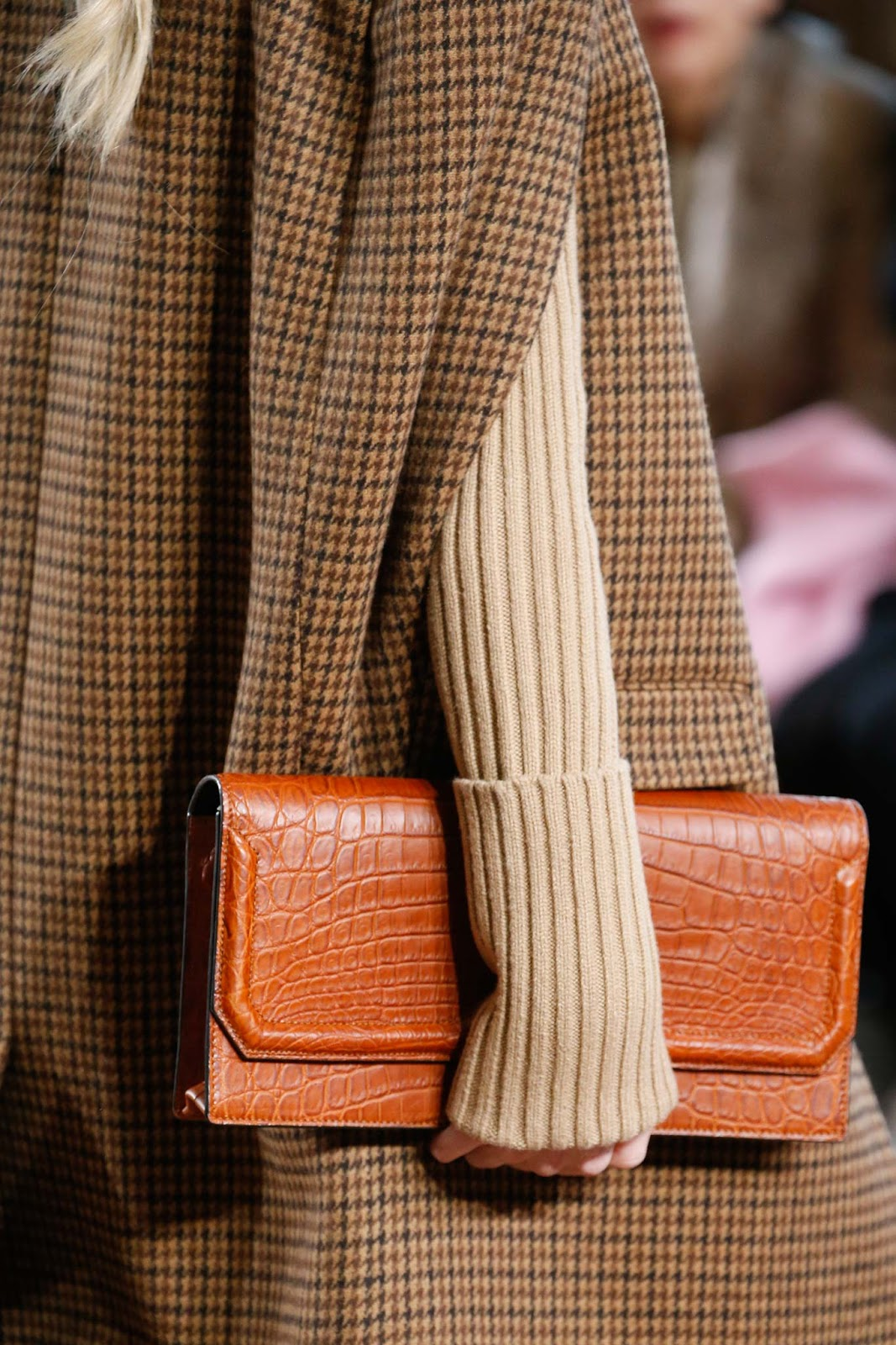 Fall 2015 accessories trend report / best bags / investment bags / crocodile accessories trend at Michael Kors Fall/Winter 2015 via fashionedbylove.co.uk, british fashion blog
