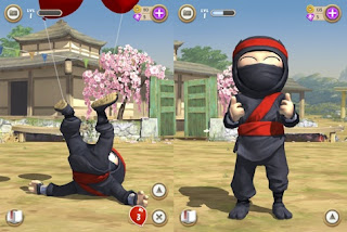 Screenshots of the Clumsy Ninja for Android tablet, phone.