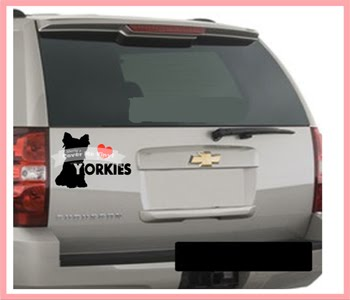 Love Yorkie Car Decal