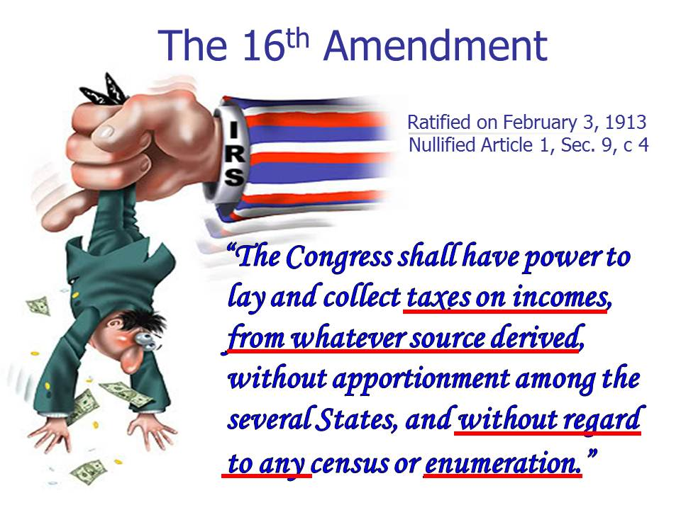16th Amendment Pictures The 16th amendment changed