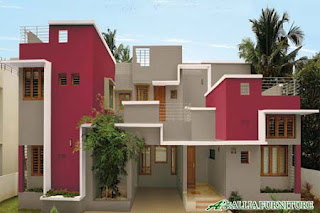 Rumah dengan kombinasi Cat warna