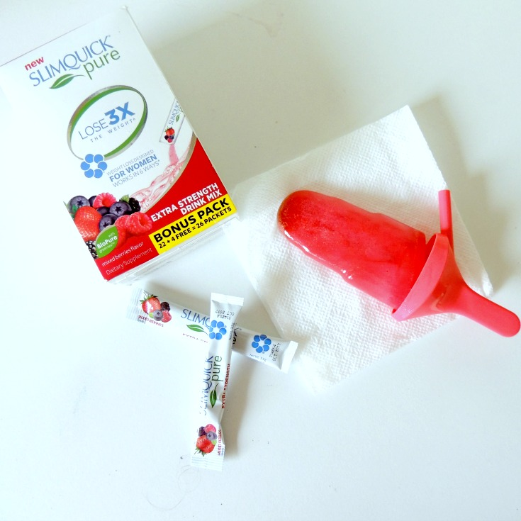 Slimquick Mixed Berry Drink Mix Popsicles