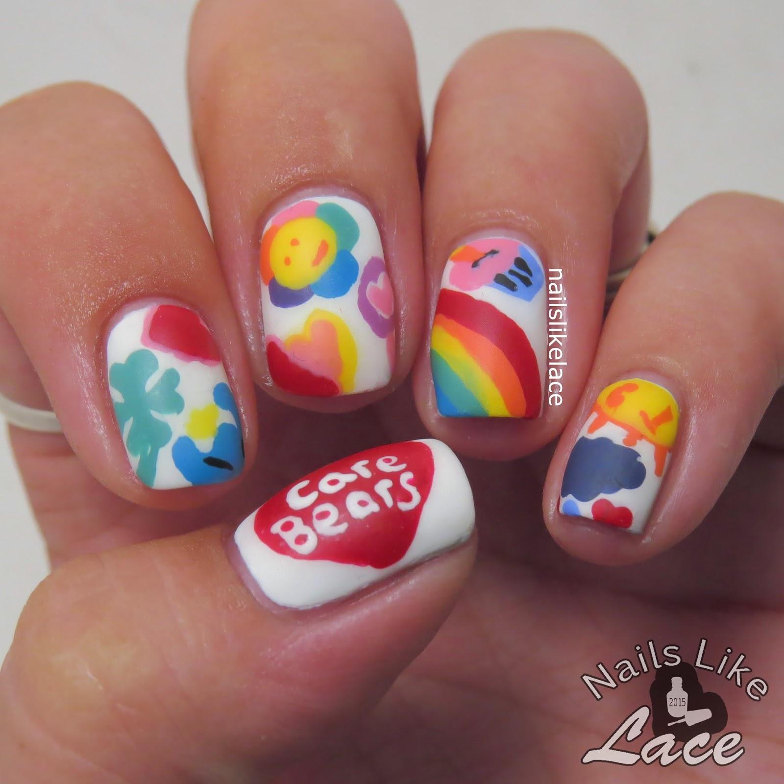 NailsLikeLace: Care Bear Nail Art Collab