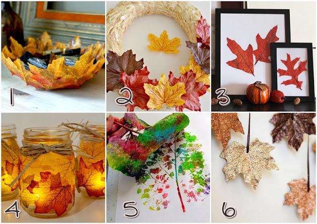 Call me blueli decoraci n oto o 12 ideas diy con hojas secas for Decoracion con hojas secas