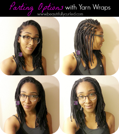 Beautifully Curled: Parting Options with Yarn Wraps