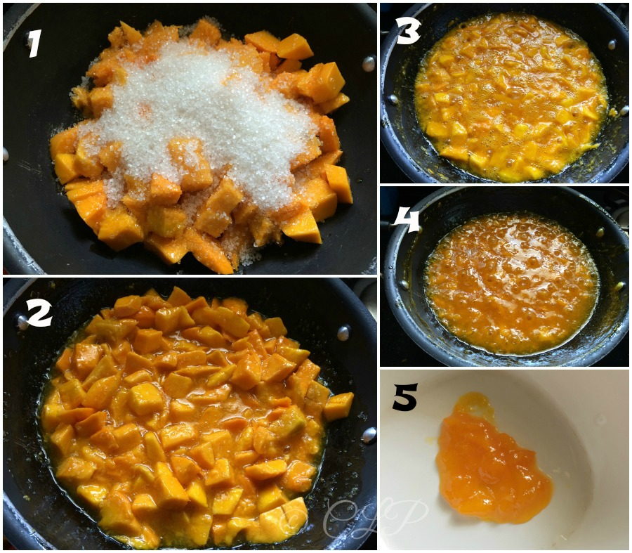 Step by Step recipe how to make homemade mango jam