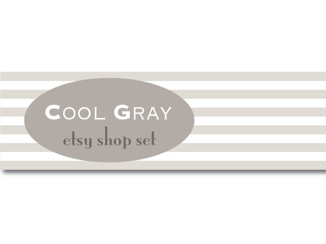 COOL GRAY - Premade Etsy Shop Set - Etsy Banner, Avatar by galeriaVarte