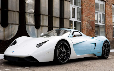 Blue Sky and White Super Sports Car - Cars Modification Wallpapers