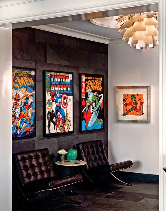 pinteressaie d coration du sous sol th matique super h ros. Black Bedroom Furniture Sets. Home Design Ideas