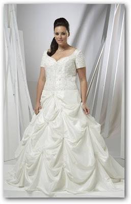 Vestido de boda mangas cortas
