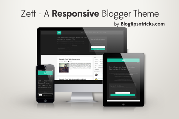 Zett Responsive Blogger Theme Demo