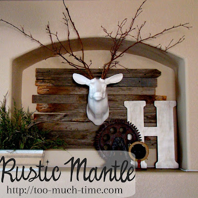 rustic industrial mantle