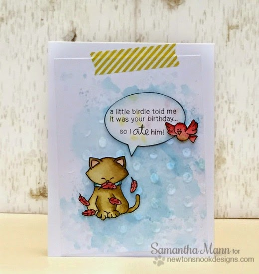 Kitty Birthday Card card by Samantha Mann | Newton's Birthday Flutter stamps by Newton's Nook Designs