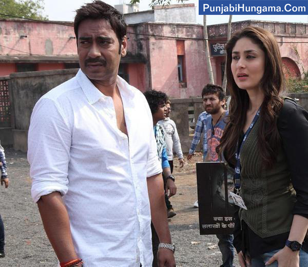 Ajay Devgn and Kareena Kapoor shooting for Satyagraha