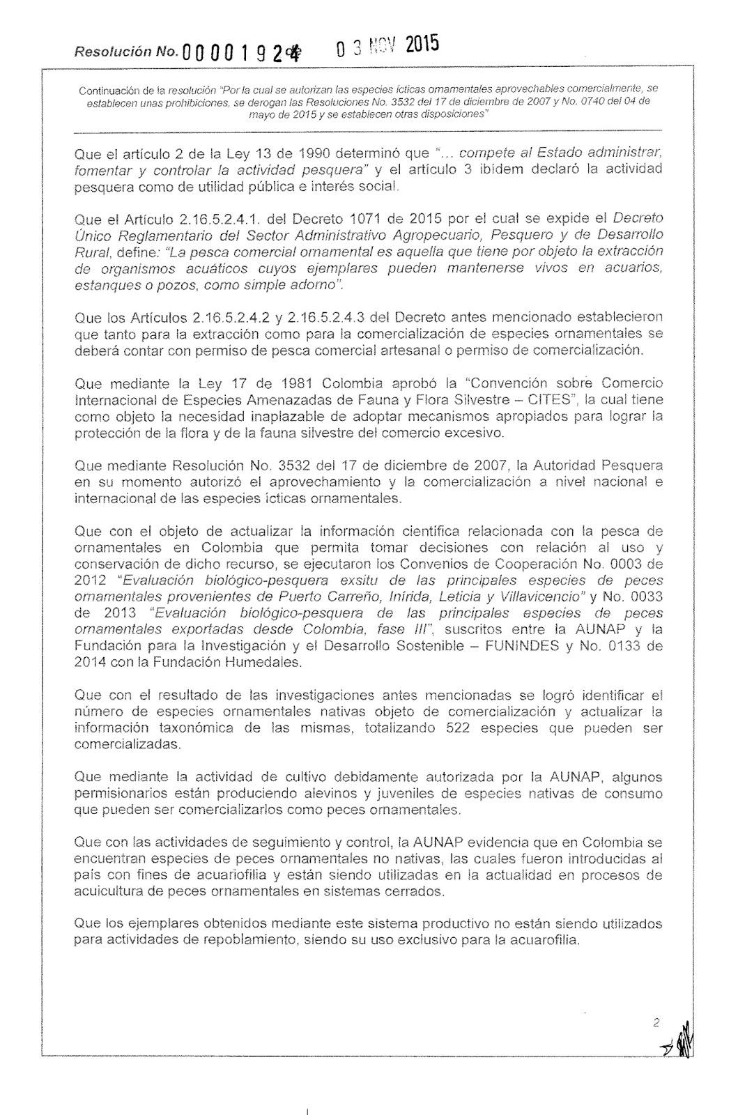 Acuacolombia Aunap Emite Nueva Resoluci N De Peces