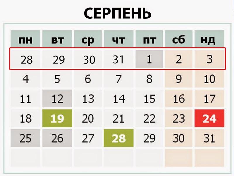 Хроніка подій останнього тижня серпня в Україні