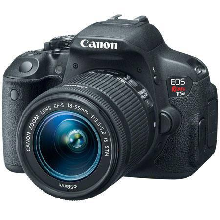 New Canon EOS Rebel T5i DSLR Camera with EF-S 18-55mm f/3.5-5.6 IS STM Lens