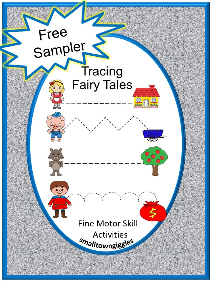 Free Sampler Fairy Tales Tracing Activities