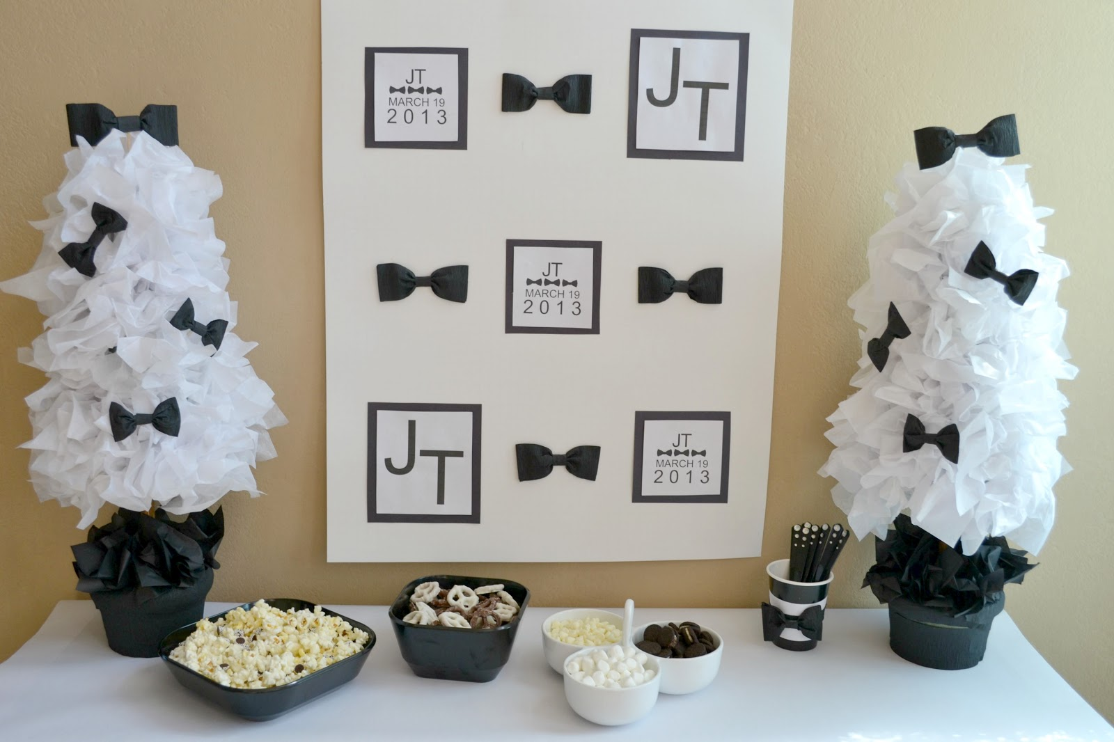 Mommy testers got your suit tie ready for a black for White party decoration ideas