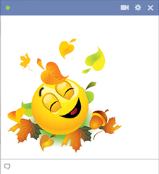 Fall emoticon